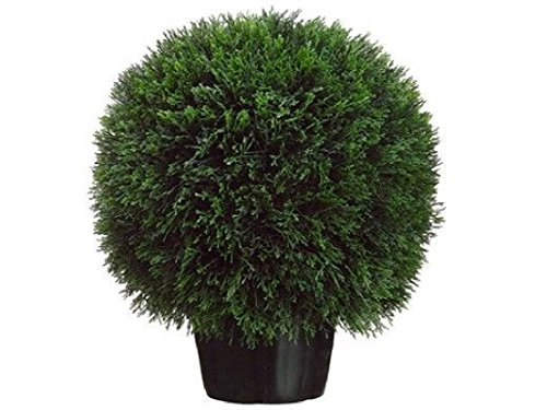 20'' Artificial Cedar Ball Topiary In Outdoor Tree Plant bush Patio Decor Office by Black Decor Home