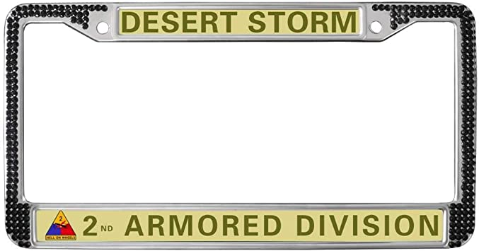 Army Desert Storm Veteran Chrome License Plate Frame U.S