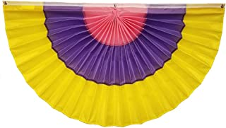 "product image for Independence Bunting - 36"" x 72"" Easter/Spring Nylon Pleated Fan Bunting. Made in USA Flag Bunting Banner!"