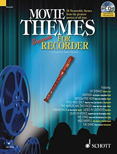 MOVIE THEMES PLAY-ALONG FOR SOPRANO RECORDER BK/CD (Schott Master Play-along Series) (Recorder Cd Express)