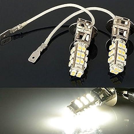 Super White H3 100W Led Halogen Car Driving Headlight Fog Light Bulbs 12V 2X ER