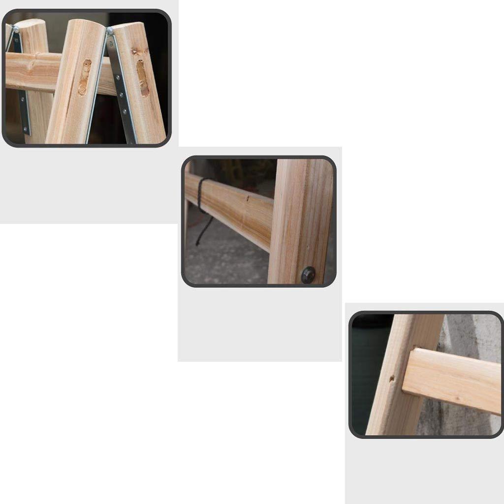 Vier-Stufen-Engineering-Leiter Au/ßenarbeits Leiter Innendekoration Stehleitern Fotografie Ladder Multifunktion Size : 40 * 120CM Klappleiter Bilaterale Holzleiter