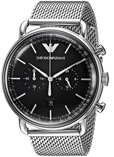 Emporio Armani Men's 'Dress' Quartz Stainless Steel Casual Watch, Color:Silver-Toned (Model: AR11104)