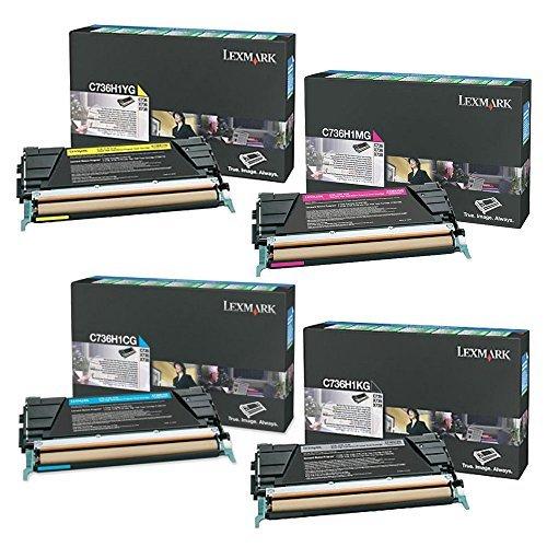 (Lexmark C736H1KG, C736H1CG, C736H1MG, C736H1YG High Yield Toner Cartridge Set - Lexmark C736n)