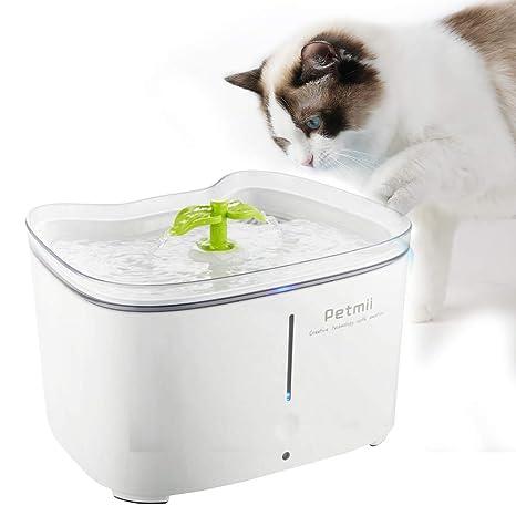 SUNTATOP Bebedero Gatos, Fuente Ultra-Silenciosa para Gatos ...