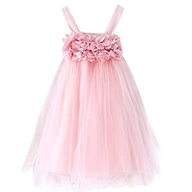 Amazon.com: ling\'s moment Baby Girl Dress Toddler Tutu Dress Wedding ...