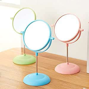 MegaUniversal   Single Unit 6 Inch Tabletop Cute Swivel Vanity Makeup  Mirror, Polycarbonate Finish