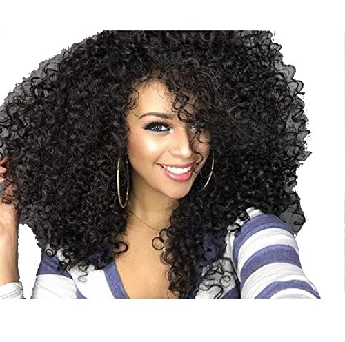 Afro Women Cosplay Wig Girls Middle Long Big Wave Hair Celebrity Wigs Black Curls