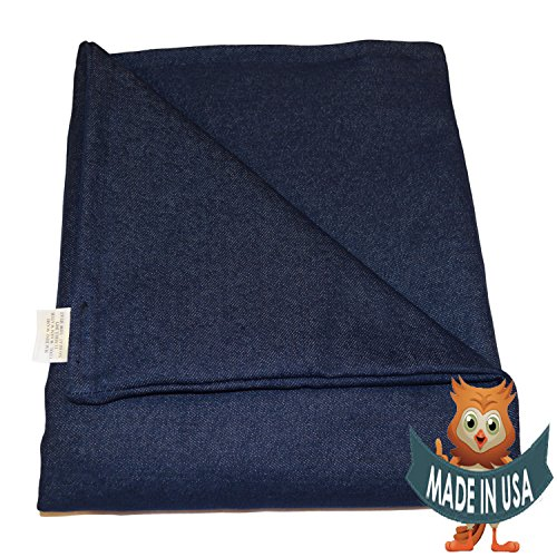 SENSORY GOODS Adult Large Weighted Blanket by 15lb Medium Pressure - Denim (42'' x 72'') Our Weighted Blankets provide therapy for Autism, SPD, ADHD, stress, anxiety and more.