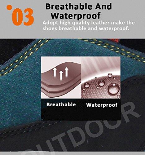 Weweya Zapatos de senderismo para hombre Zapatos de viaje Trail Waterproof Shoes Amarillo