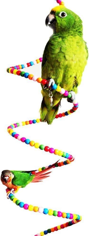 Keersi - Colorida escalera que gira para jaula de pájaro, loro, guacamayo, periquito, cacatúa, periquito, agapornis, Juguete para jaula: Amazon.es: Productos para mascotas