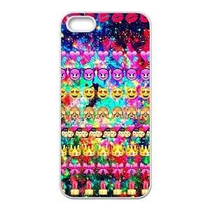 DIY iPhone 5,5S Case, Zyoux Custom Unique iPhone 5,5S Phone Case - Funny Emoji Face