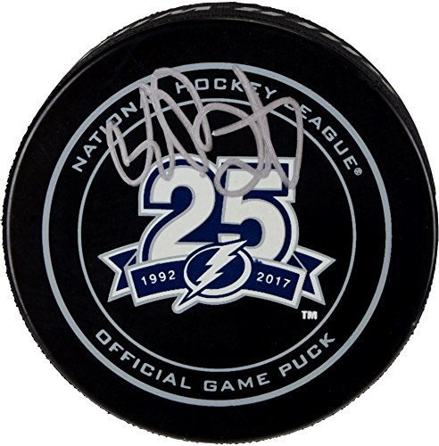 Andrei Vasilevskiy Tampa Bay Lightning Autographed 25th Anniversary Season Official Game Puck - Fanatics Authentic Certified