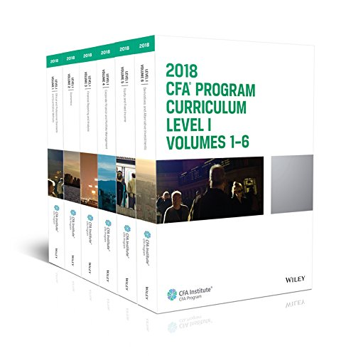 CFA Program Curriculum 2018 Level I (CFA Curriculum 2018)