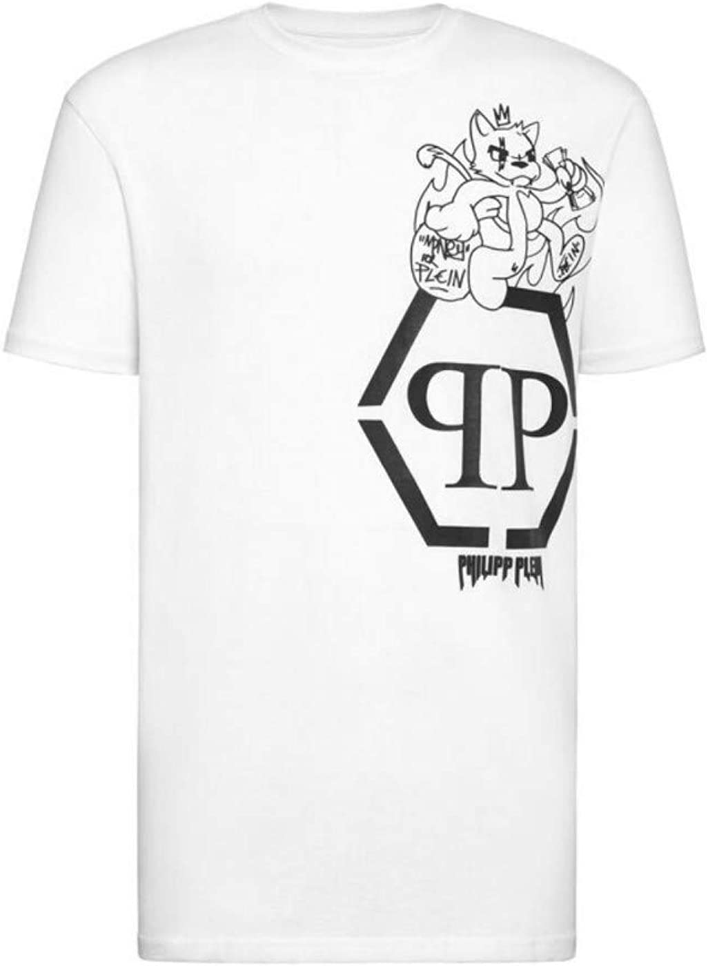 Philipp Plein T Shirt White Size Xl Amazon Co Uk Clothing