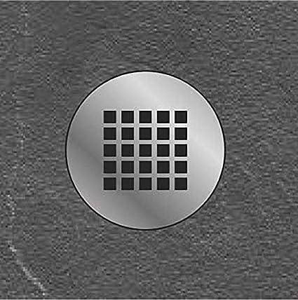 Plato ducha resina antideslizante textura pizarra Smooth Bricodomo 80x80 Semicircular Blanco