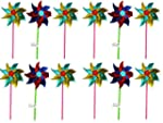 Holographic 18cm Garden Windmill - As...