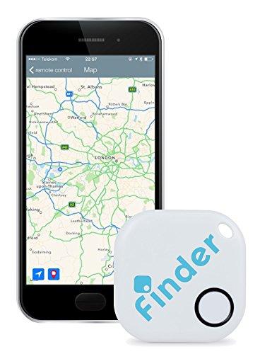 musegear Schlüsselfinder (weiß)   Einfach per kostenloser App (iPhone & Android) alles wiederfinden   Ultimatives Handy Gadget als Schlüsselanhänger oder Auto-Zubehör Accessoire