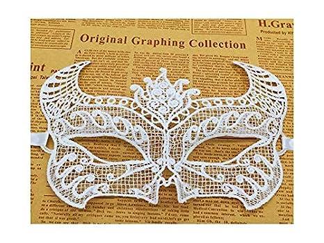 FGVBHTR Máscara de Recortes de Encaje en Forma de Cabeza de Toro Máscara de Disfraces de