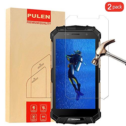 PULEN [2-Pack] Doogee S60 Screen Protector Tempered Glass Screen Protector For Doogee S60 Anti-Scratch Anti-Fingerprint Ultra Clear Doogee S60 Supershieldz-100%