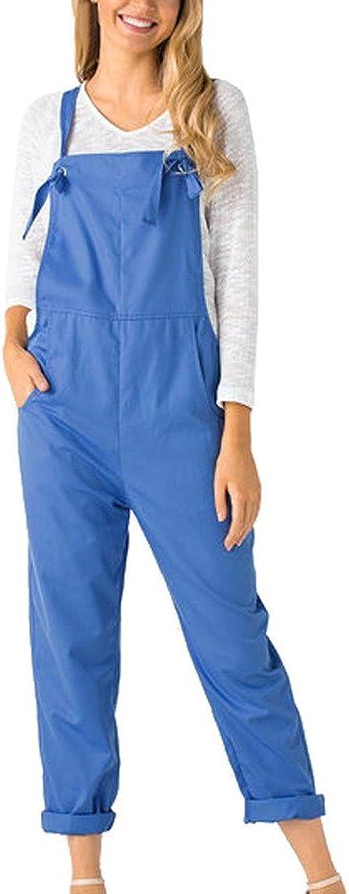 Onsoyours Mono Peto Retro De Las Mujeres Pantalones De Verano Monos Traje Bib Pantalones Lino Ocasional Mono Suelto Pantalones Largos De Pierna Ancha