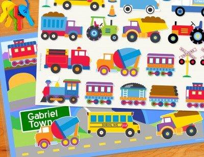 Olive Kids Tptx Trains (Olive Kids Transportation Personalized PlayMat)
