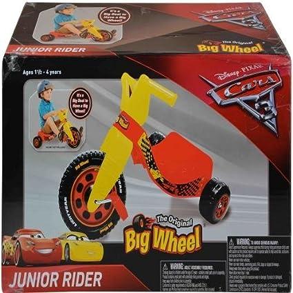 amazon com junior rider disney cars junior big wheel ride on the