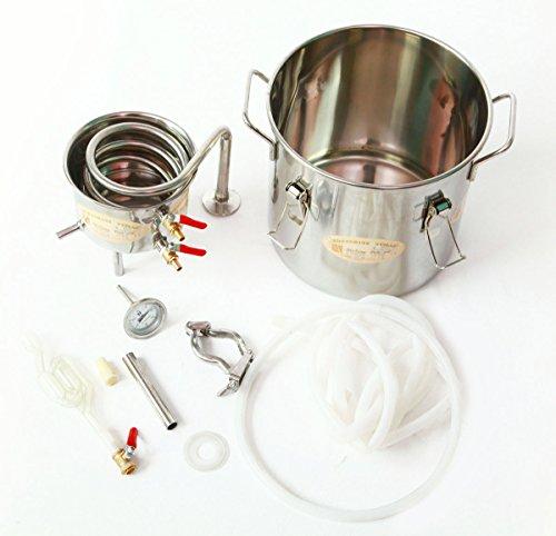 DIY 2 Gal 10 Liters Home Alcohol Whiskey Distiller Moonshine Still Stainless Steel Boiler Wine Making Kit by WMN_TRULYSTEP (Image #8)