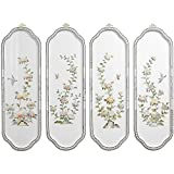 Oriental Furniture Birds and Flowers Curved Wall Plaques