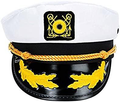 E-Greetbuy Gorra de capitán de yate para Adulto, Ajustable, para ...