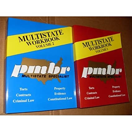 Amazon com: PMBR MULTISTATE BAR EXAM REVIEW WORKBOOKS 2006 EDITION