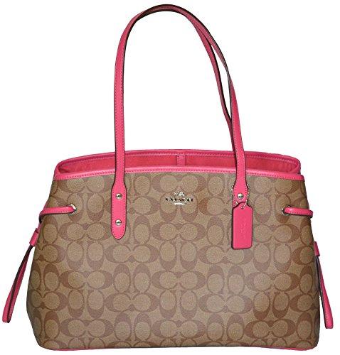 Coach Purse Outlet (Coach Purse Signature Drawstring Carryall Shoulder Bag (Strawberry))