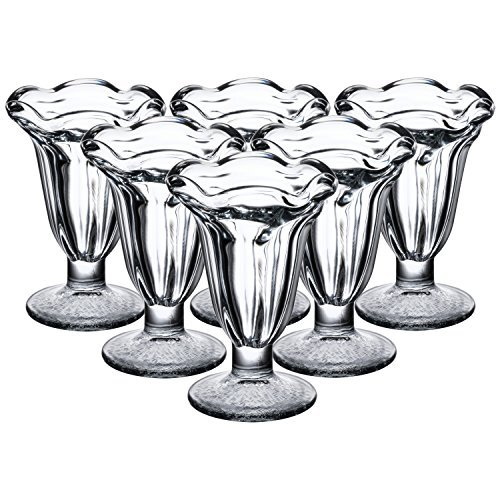 Libbey 5 Ounce Glass Tulip Sundae and Dessert Cup, Set of 12