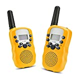 Image of WloveTravel Walkie Talkies for Kids, Two Way Radio 22 Channels Bulit in Flashlight, Battery Operated 3 Miles Talkies Handset for Indoor & Outdoor Play(Yellow, 2PCS)