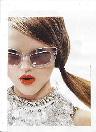 2 PagePRINT AD With Rasa Zukauskaite For 2010 Prada - Sunglasses Prada Ad