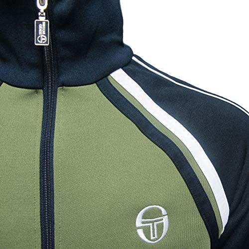 Sergio Tacchini Mens Ghibli Vintage Track Top Olivine/Navy 2XL by Sergio Tacchini (Image #1)