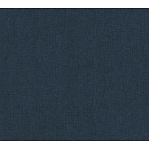 Wallpaper Weave Linen - York Wallcoverings RK4526 Brothers and Sisters V Dream Weaver Wallpaper, Navy Blue