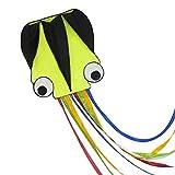 Huge Octopus Kite-Easy Flyer Kite for Kid-Beach Kites for Outdoor Games and Activities-Great Beginner Kite(100'' Line) (green)