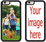 Custom Phone Cases for iPhone 6S PLUS, iPhone 6 PLUS, iZERCASE [PERSONALIZED CUSTOM PICTURE CASE] Make Your Own Phone Case (BLACK)