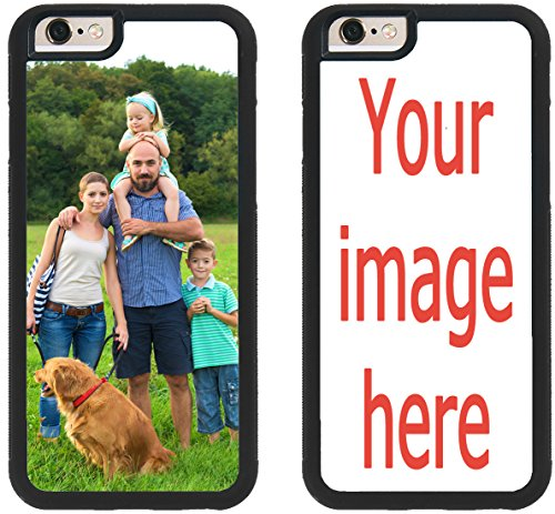 Custom Phone Cases for iPhone 6S Plus, iPhone 6 Plus, iZERCASE [Personalized Custom Picture CASE] Make Your Own Phone Case (Black) ()