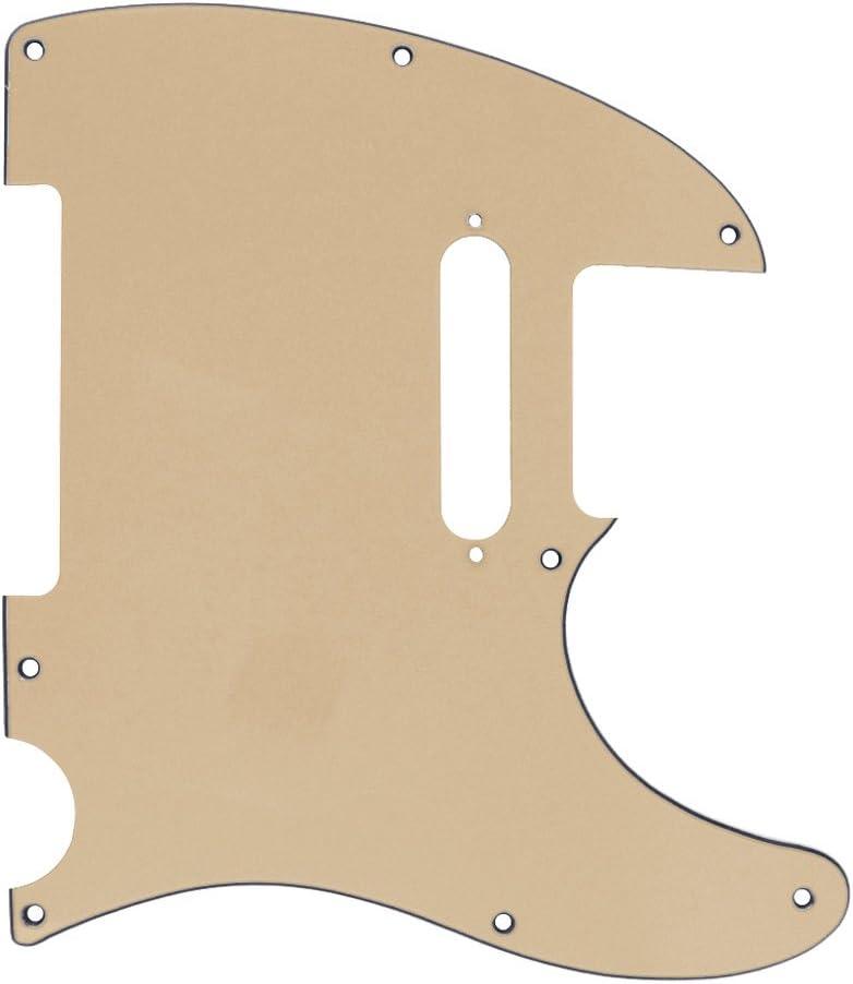 IKN/® 4-ply 8 trous Standard Pickguard pour remplacement de guitare Style Tele Precision Precision avec vis,tortue rouge