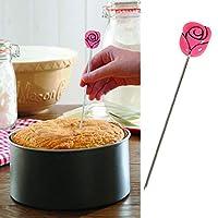 Stainless Steel Cake Tester Cupcake Muffin Baking Tool Flower Design Cupcake Baking Bread Dough Cooking Utensil Tools