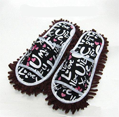 mhgao Ladies Casual algodón Zapatillas la Lazy Clean Zapatillas Doble extraíble y lavable, azul claro, medium coffee color