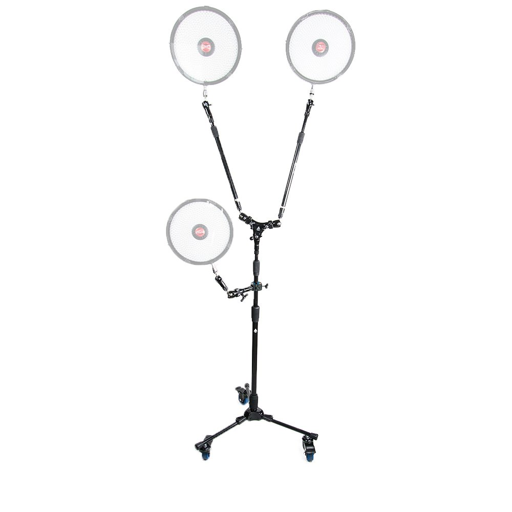 Triad-Orbit Heavy-Duty Lighting Stand System Kit with Wheels - Black
