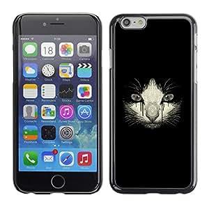 iBinBang / Funda Carcasa Cover Skin Case - Llorando Gatito triste del gato Dibujo Negro - Apple iPhone 6