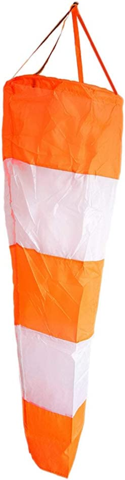 30//40 100cm Length 60 inch Airport Windsocks Rip-Stop Outdoor Rainbow Wind Measurement Sock Bag with Reflective Belt