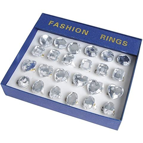 JUMBO CRYSTAL RINGS-24 PIECE, SOLD BY 6 BOXES (Jumbo Crystal Rings)