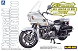 Aoshima Models AOS-003305 Kawasaki Police 1000 Cowling Type Motorcycle Model Building Kit, 1/12 Scale