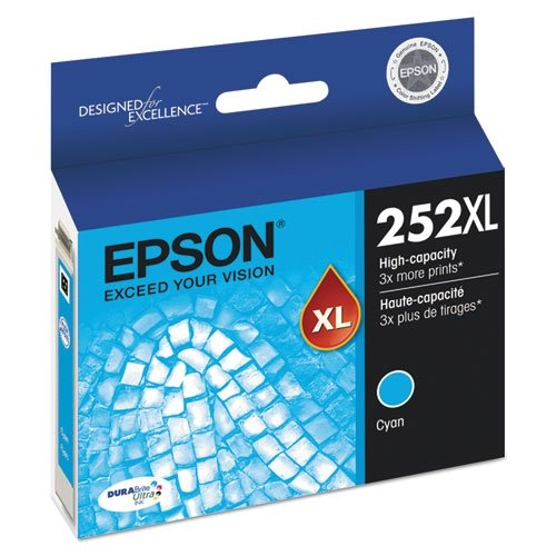 Epson DuraBrite Ultra T252XL220-S High-Yield Cyan Ink Cartri