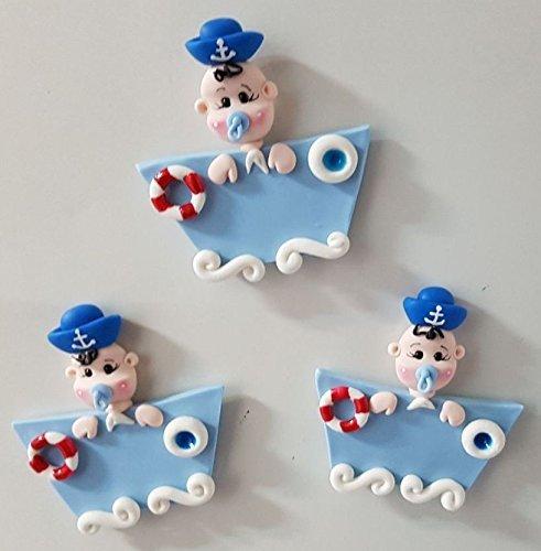 Iman Tema Marinero bebe (12 piezas) Baby shower Nacimiento Bautizo Cumpleaños: Amazon.es: Handmade